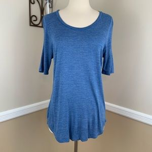 Madewell Anthem Curved Hem Short Sleeve Tee Blue